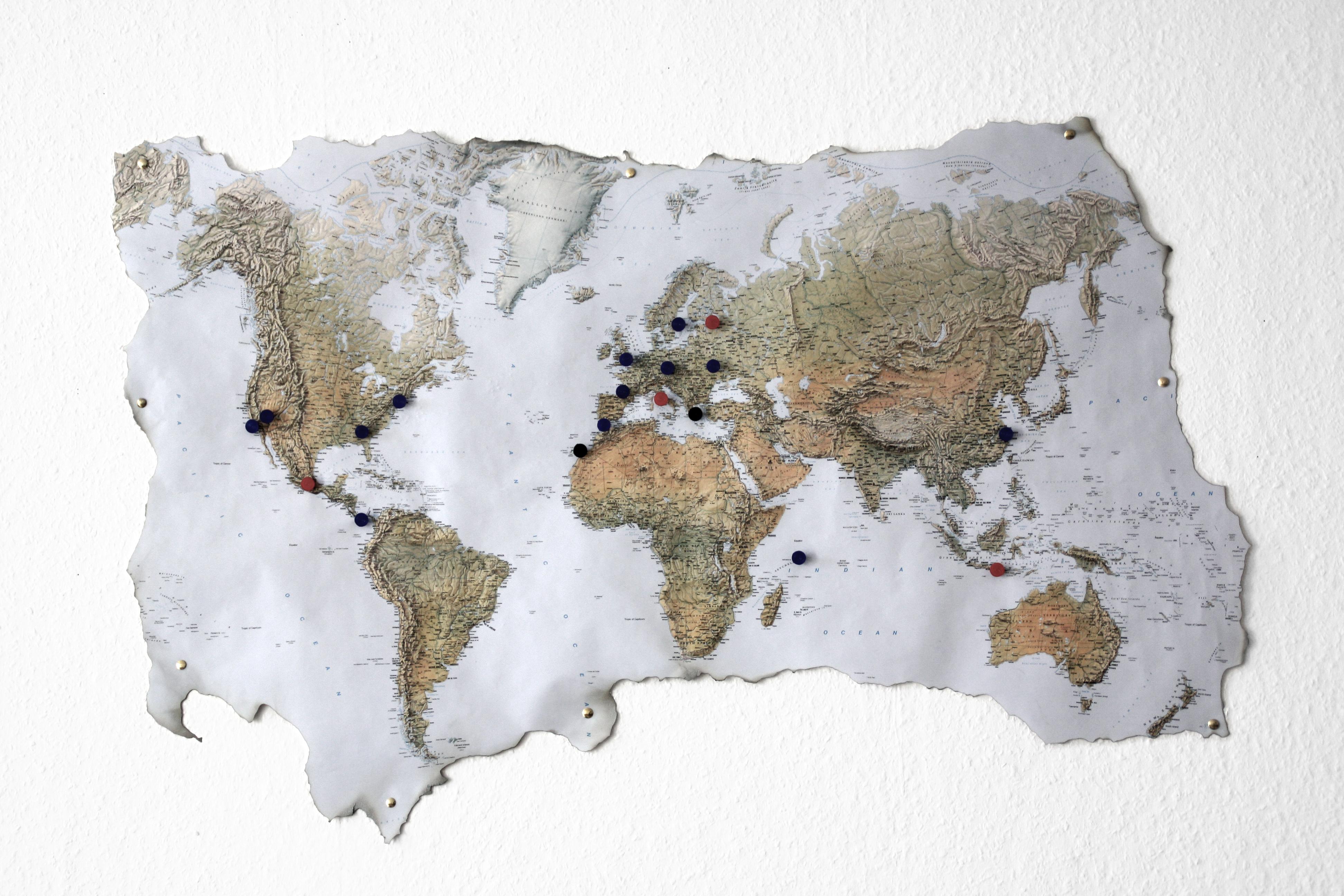 Weltkarte archive schereleimpapier diy blog f r wohnen - Weltkarte basteln ...