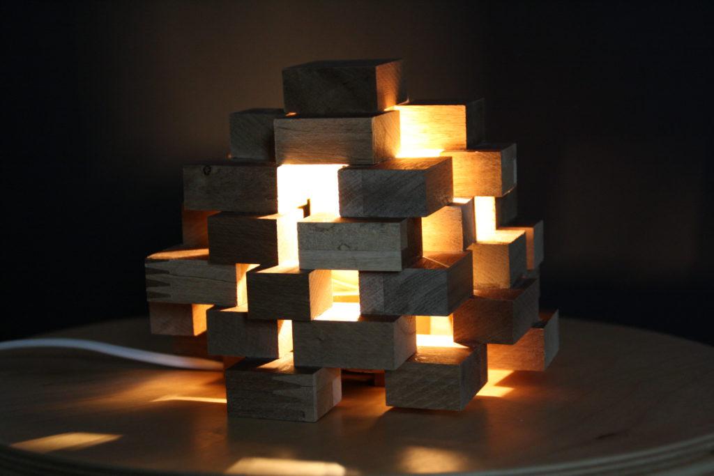 DIY Klötzchen Lampe Aus Holz