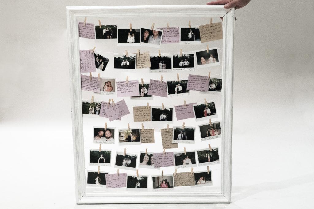 diy hochzeit g stebuch selbst gestalten polaroid. Black Bedroom Furniture Sets. Home Design Ideas