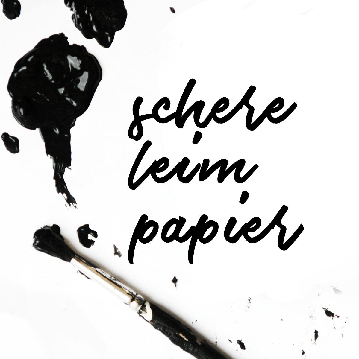 DIY Blog schereleimpapier