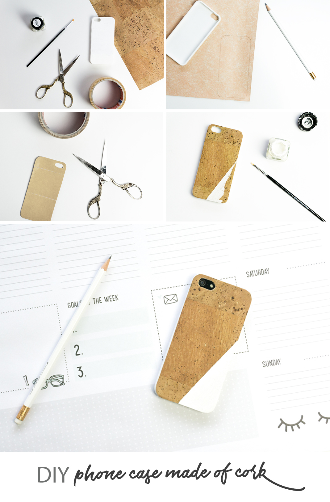 diy kork phone case schereleimpapier diy blog f r. Black Bedroom Furniture Sets. Home Design Ideas