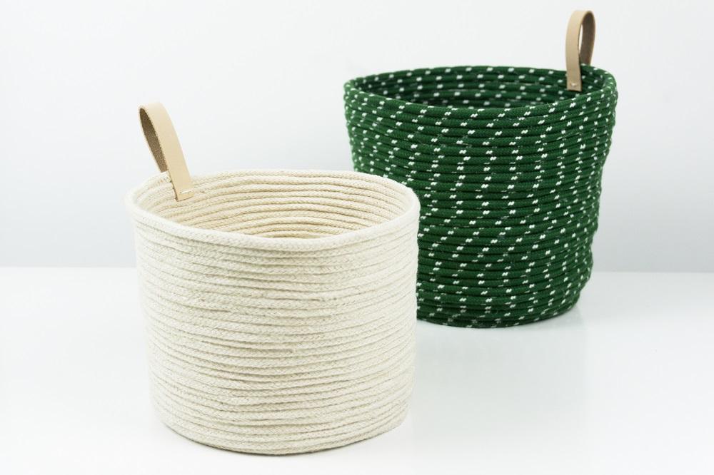 schereleimpapier DIY und Upcycling Blog aus Berlin - kreative Tutorials für Geschenke, Möbel und Deko zum Basteln – live im ARD Buffet kreativ- Korb aus Seil und Leder