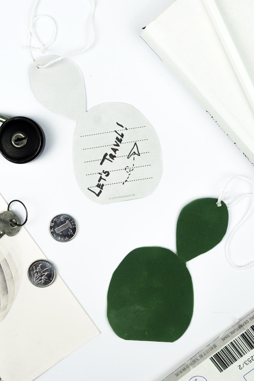 schereleimpapier DIY Kaktus Kofferanhänger zum Ausdrucken ...