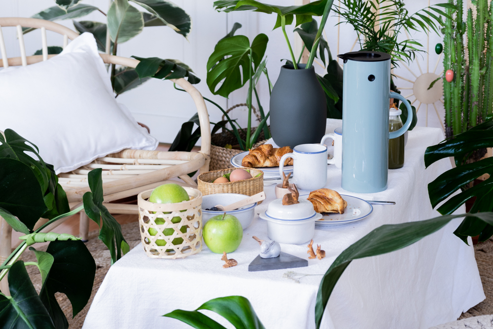 Osterdeko mal anders: so gestaltest du ein Osterpicknick im Großstadt-Dschungel -schereleimpapier DIY und Upcycling Blog aus Berlin - kreative Tutorials für DIY Geschenke, DIY Möbel und DIY Deko zum Basteln