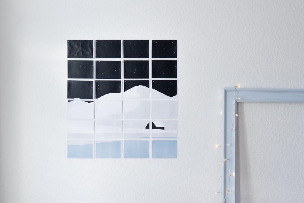 Adventskalender selber basteln schereleimpapier kreative Tutorials für DIY Geschenke, DIY Möbel und DIY Deko zum Basteln